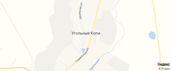 Карта поселка Угольные Копи в Чукотском автономном округе с улицами и номерами домов