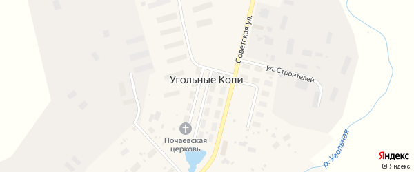 Чукотская улица на карте поселка Угольные Копи с номерами домов