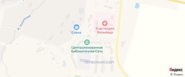 Первомайская улица на карте поселка Угольные Копи с номерами домов