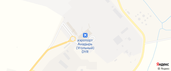 Территория Аэропорт Анадырь на карте Угольные Копи 3-й поселка с номерами домов
