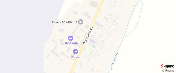 Портовая улица на карте поселка Угольные Копи с номерами домов