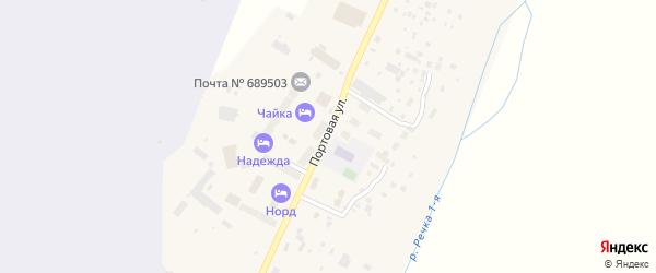 Портовая улица на карте Угольные Копи 3-й поселка с номерами домов