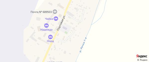Береговая улица на карте поселка Угольные Копи с номерами домов
