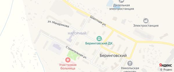 Улица Мандрикова на карте Беринговского поселка с номерами домов