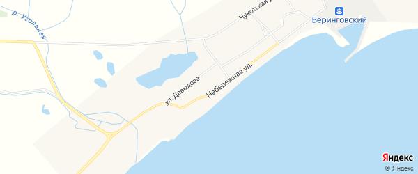 Карта Беринговского поселка в Чукотском автономном округе с улицами и номерами домов