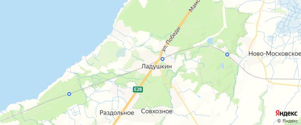 Карта Ладушкина с районами, улицами и номерами домов: Ладушкин на карте России