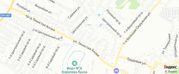 Ореховая улица на карте садового некоммерческого товарищества Зари с номерами домов