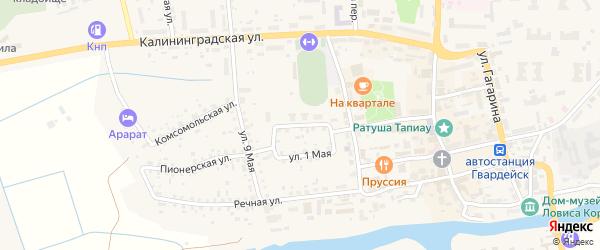 Фронтовая улица на карте Гвардейска с номерами домов