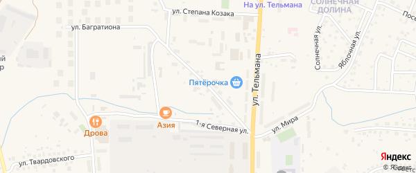 Улица Крупской на карте Гвардейска с номерами домов