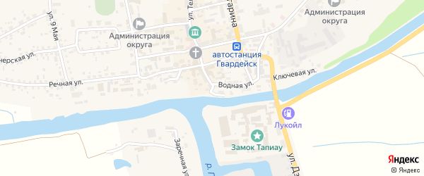 Набережная улица на карте Гвардейска с номерами домов