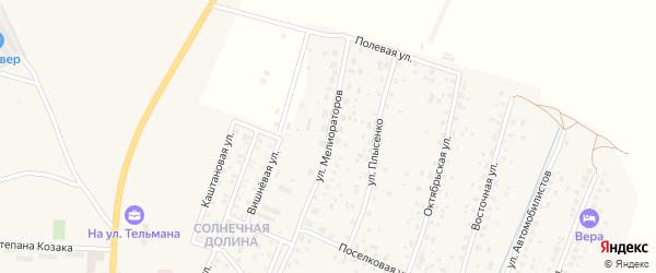 Улица Мелиораторов на карте Гвардейска с номерами домов