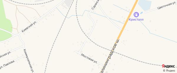 Харьковская улица на карте Советска с номерами домов