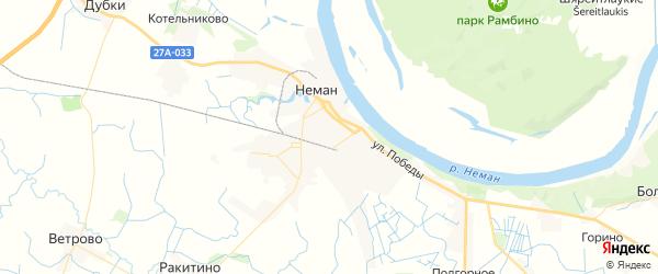 Карта Немана с районами, улицами и номерами домов