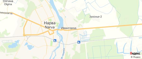 Карта Ивангорода с районами, улицами и номерами домов