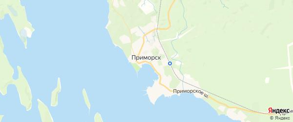 Карта Приморска с районами, улицами и номерами домов