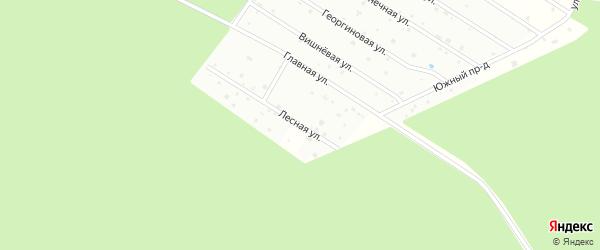 Лесная улица на карте садового некоммерческого товарищества Ромашки с номерами домов
