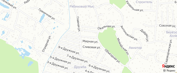 Вишневая улица на карте садового некоммерческого товарищества Дружбы с номерами домов