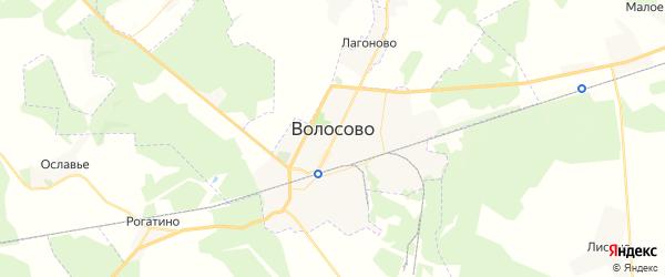 Карта Волосово с районами, улицами и номерами домов
