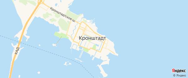 Карта Кронштадта с районами, улицами и номерами домов