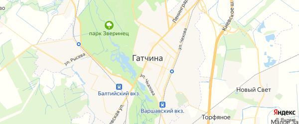 Карта Гатчины с районами, улицами и номерами домов: Гатчина на карте России