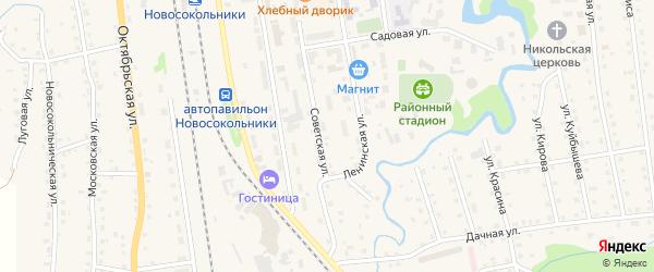Километр Казарма 424 на карте Новосокольников с номерами домов