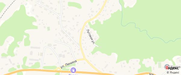 Луговая улица на карте Лахденпохьи с номерами домов