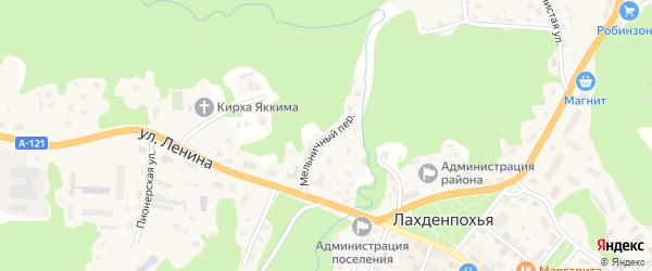 Мельничный переулок на карте Лахденпохьи с номерами домов