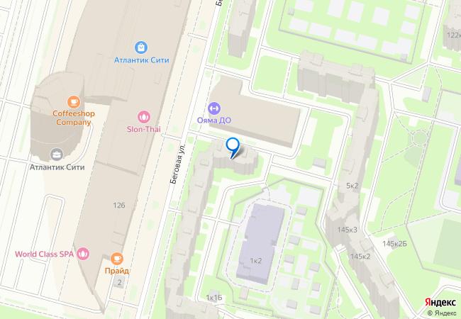 беговая улица 1к1 на карте санкт петербурга организации фото подробно