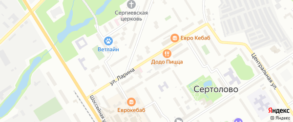 Улица Ларина на карте Сертолово с номерами домов