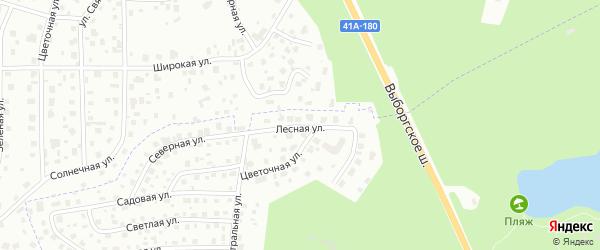Лесная улица на карте Сертолово с номерами домов