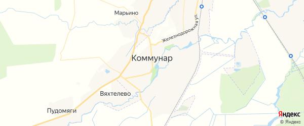 Карта Коммунара с районами, улицами и номерами домов