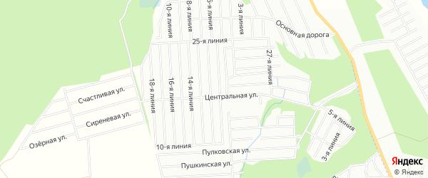 Карта садового некоммерческого товарищества Восхода города Майкопа в Адыгее с улицами и номерами домов
