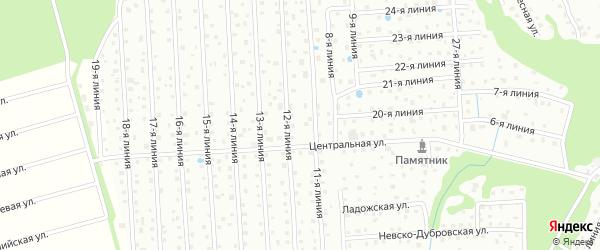 Предгорная улица на карте садового некоммерческого товарищества Восхода с номерами домов
