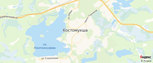 Карта Костомукши с районами, улицами и номерами домов