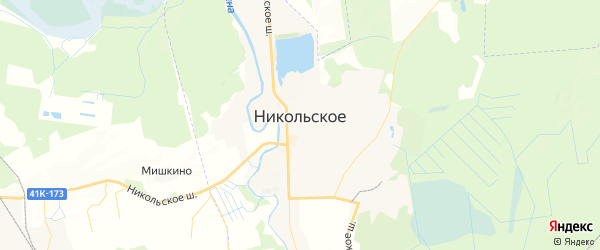 Карта Никольского с районами, улицами и номерами домов: Никольское на карте России