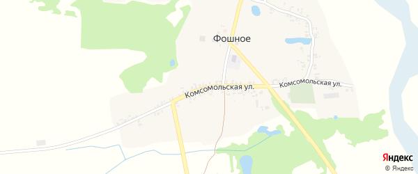 Комсомольская улица на карте деревни Фошного с номерами домов