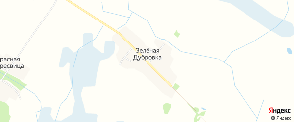 Карта поселка Зеленой Дубровки в Брянской области с улицами и номерами домов