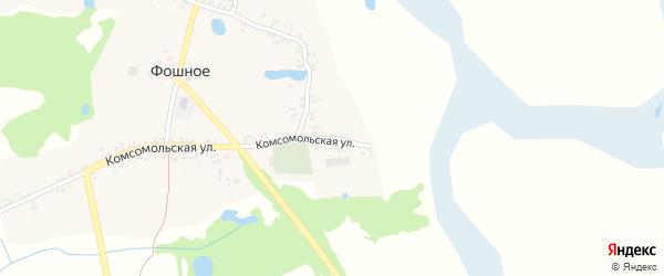 Заречный переулок на карте деревни Фошного с номерами домов