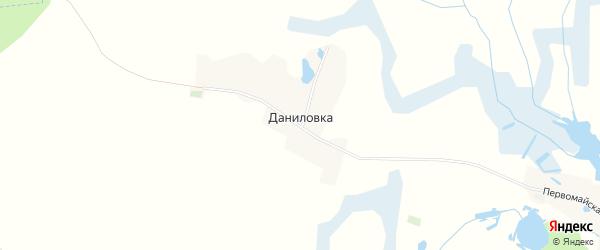 Карта поселка Даниловки в Брянской области с улицами и номерами домов