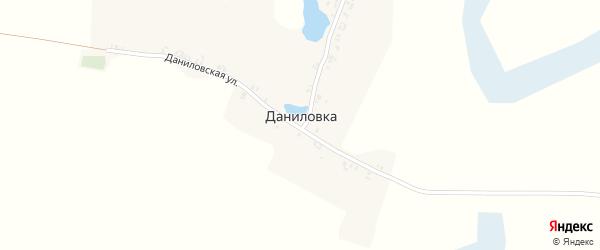 Даниловская улица на карте поселка Даниловки с номерами домов