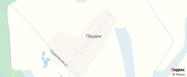 Прудковская улица на карте поселка Прудки с номерами домов