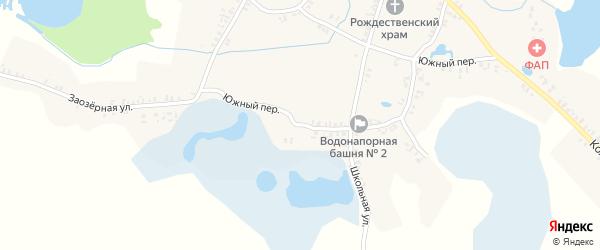 Южный переулок на карте села Колюды с номерами домов