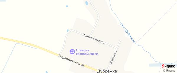 Центральная улица на карте поселка Дубрежки с номерами домов