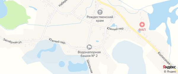 Школьная улица на карте села Колюды с номерами домов