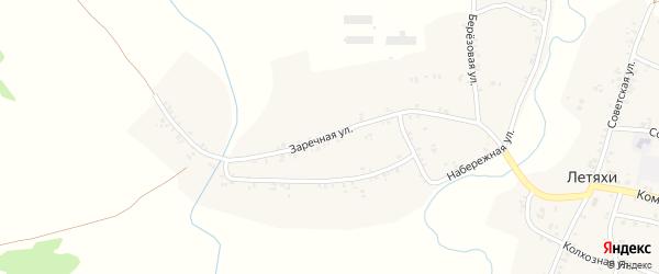Заречная улица на карте села Летяхи с номерами домов