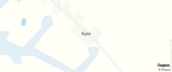 Будянская улица на карте поселка Буды с номерами домов