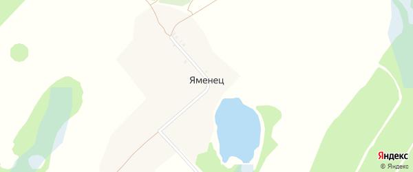 Центральная улица на карте поселка Яменца с номерами домов