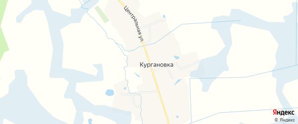 Карта деревни Кургановки в Брянской области с улицами и номерами домов