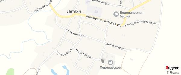 Колхозная улица на карте села Летяхи с номерами домов