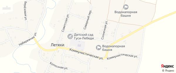 Солнечная улица на карте села Летяхи с номерами домов